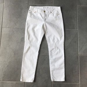 Michael Kors cropped skinny destroyed jeans size 4